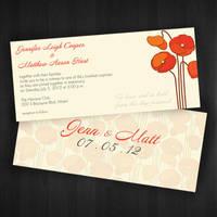 Wedding Invitation : 01 by vanityclaire