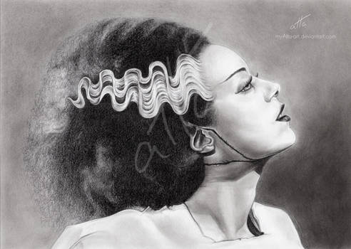 Bride of Frankenstein by myAtta-art