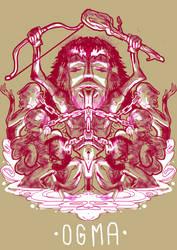 Ogma, celtic god of eloquence by LaysFarra