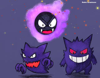 Ghostly trio by rubbe