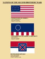 Postbellum America: Flags by Xanthoc