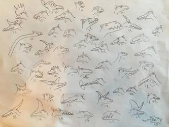 More Pseudo-Pterosaurs by Lediblock2
