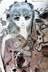 kimono sugata no on'nanoko. by Hana-to-Tsuki