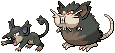 Alolan Rattata and Raticate Sprites by conyjams