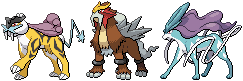 Legendary Beasts Sprites by conyjams
