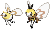 Cutiefly and Ribombee Sprites by conyjams