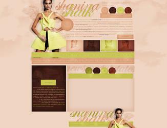 Free design (Shanina Shaik) by terushdesigns