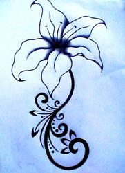 Lily Tattoo Design by chrismetalfreak