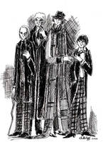 Four Original Doctors by herbertzohl