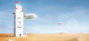desert tower remastered by przemek-duda