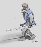 20171009 Knight sketch by przemek-duda