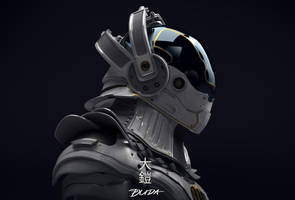 o-yoroi - Future Tech Samurai Armor 01 by przemek-duda