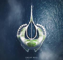 Symbiont World - Ocean City Sketch by przemek-duda