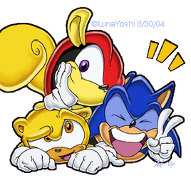 Sonic, Mighty, and Ray omfg by LuLuLunaBuna