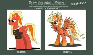 Draw This Again Meme: Wild Tempest by Ruhisu