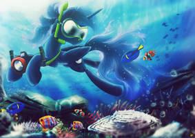Snorkeling Princess by Ruhisu