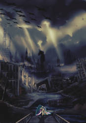 Crystal Siege volume 3 cover by Ruhisu