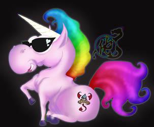 Fluffy unicorn by Lust-Daeva