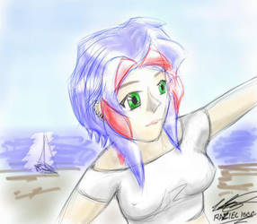 Hanging at the Beach by Raziel1000