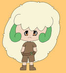 Jesus the Whimsicott Gijinka by LovelySilversky