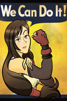 Tifa The Riveter by geeksnextdoor
