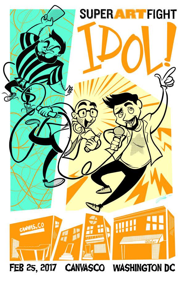 SUPER ART FIGHT Idol Poster 2017 by geeksnextdoor