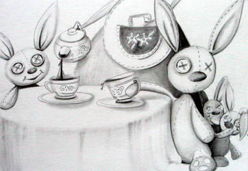 Tea Party Slavery -detail by scarlettcat