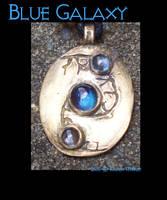 Blue Galaxy Pendant by savagedryad