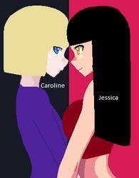 Caroline and Jessica by ReenaeTickleman