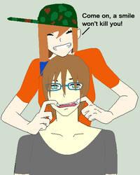 Collab with Yuki-Koiyuki- Smile Ethan by ReenaeTickleman