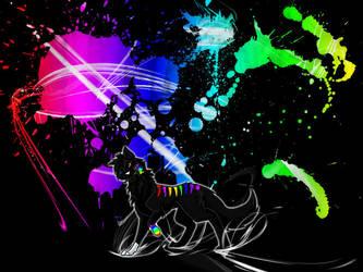 A Rainbow Exploded by Kyobii