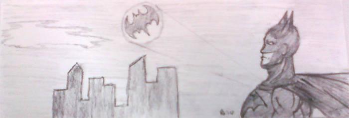 Batman Sketch by MetalPudding
