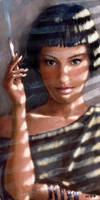 Girl smoking by DmitryGrebenkov