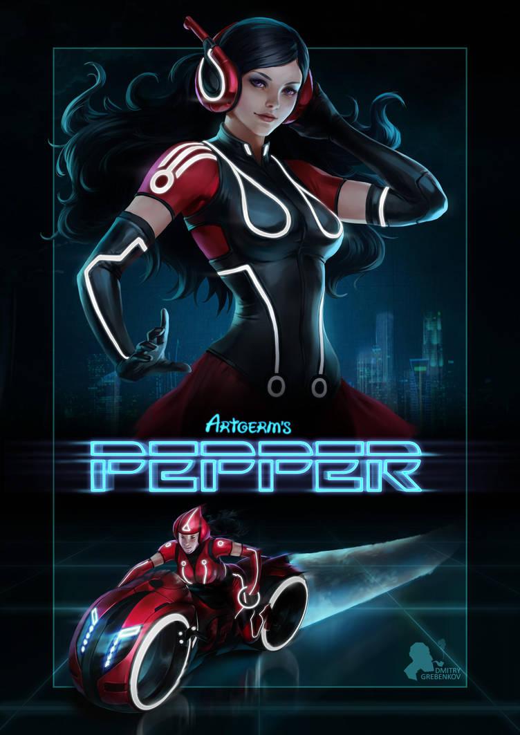 Pepper Tron by DmitryGrebenkov