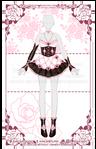 Clock Heart Locket Outfit R416 (OPEN) by RumCandyAdopt