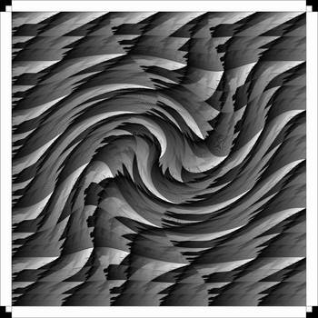 Black And White Jagged Twirl by piggies-go-moo