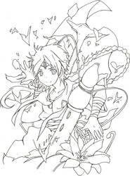 Aladdin - outlines by Sebbi-chan