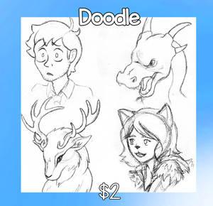 $2 Doodles! by KTechnicolour