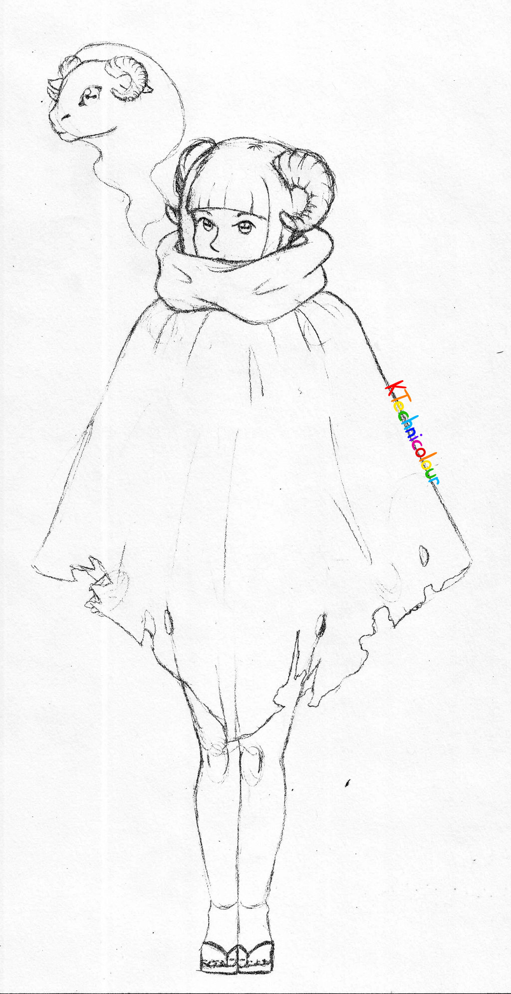 SheepGirl Sketch by KTechnicolour