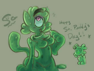 Slimecat...clover? by synthetic-ghost