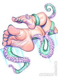 Cthulhu Barefoot by scottblairart