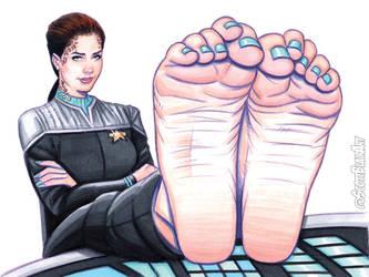 Jadzia Dax Barefoot by scottblairart