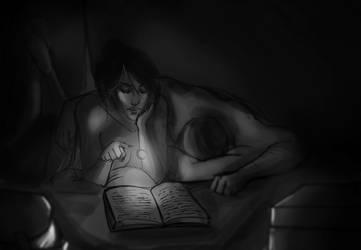 Midnight Reading by ximena07