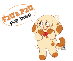 [F2U and P2U] Pup base! (20+ parts) by hara-peko
