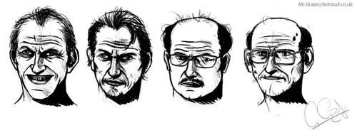 Head_Sketches by MrGraze