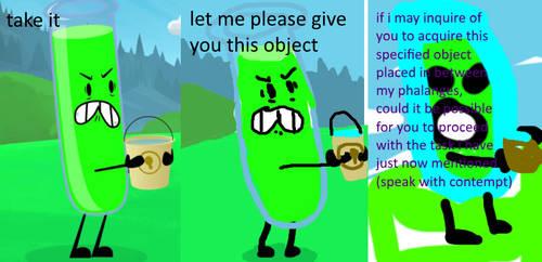 Inanimate Insanity Verbose Meme by PlasmaEmpire