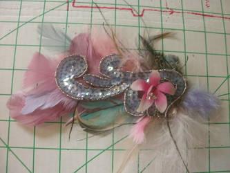 orchid feather hair clip by kukuramutta