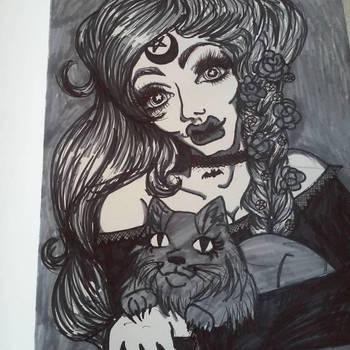 Witch Queen Black and White by kukuramutta