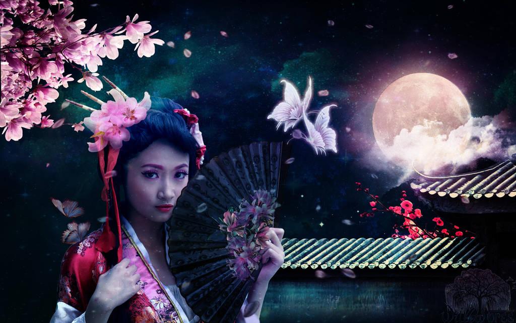 Cherry Blossom Moon by BadAssSpartaSpawn