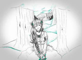 Inktober: Tranquil by Luna-Alkhemia